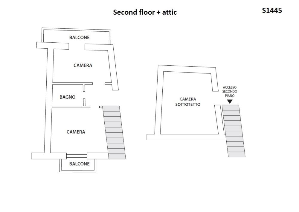 Second floor & attic plans